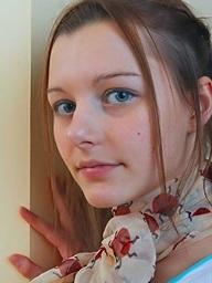 Beautiful blue eyed teen