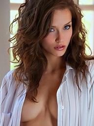 Malena Morgan removes her white shirt - Digital Desire
